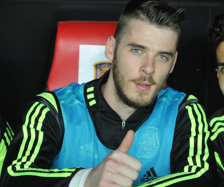 David de Gea of Spain during the UEFA Euro 2016 Qualifying match at Estadio RamÛn S·nchez-Pizju·n, Seville Picture by Daniel Hambury/Focus Images Ltd +44 7813 022858 27/03/2015
