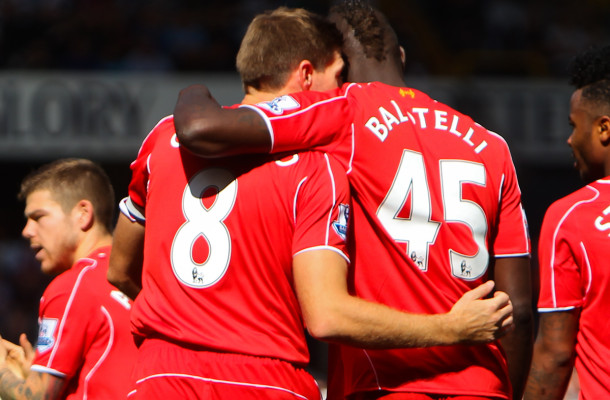 gerrard balotelli liverpool focus