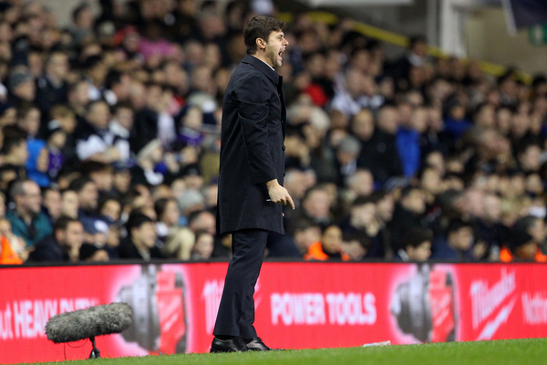 Tottenham Hotspur Manager Mauricio Pochettino during the Barclays Premier League match at White Hart Lane, London Picture by Paul Chesterton/Focus Images Ltd +44 7904 640267 26/12/2015