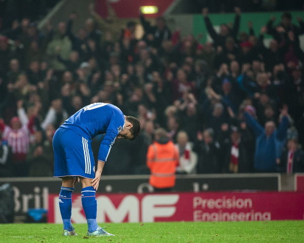 The final penalty from Eden Hazard of Chelsea is saved by Jack Butland of Stoke City  during the Capital One Cup match at the Britannia Stadium, Stoke-on-Trent  Picture by Jack Megaw/Focus Images Ltd +44 7481 764811 27/10/2015