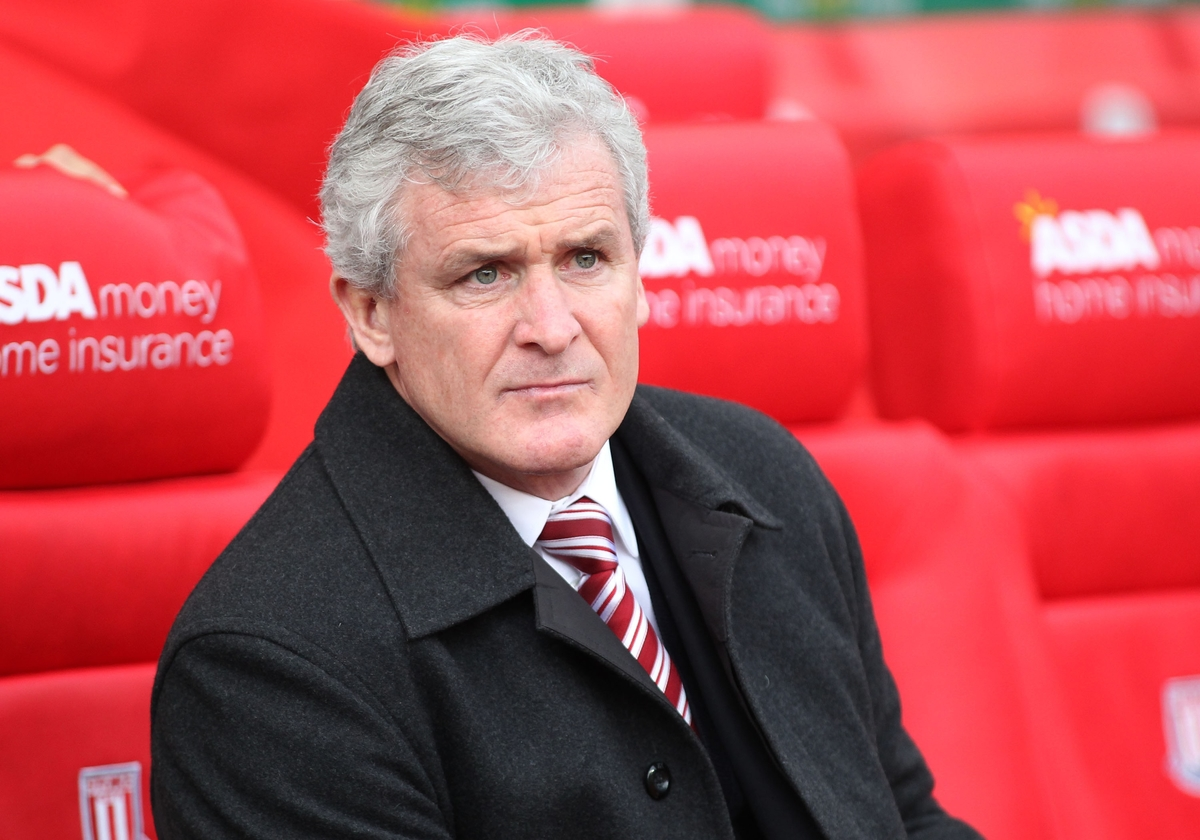 Mark Hughes manager of Stoke City on the touchline prior to the Barclays Premier League match against Manchester United at the Britannia Stadium, Stoke-on-Trent. Picture by Michael Sedgwick/Focus Images Ltd +44 7900 363072 26/12/2015