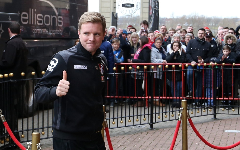Bournemouth manager Eddie Howe arrives for the Barclays Premier League match at the Stadium Of Light, Sunderland Picture by Simon Moore/Focus Images Ltd 07807 671782 23/01/2016