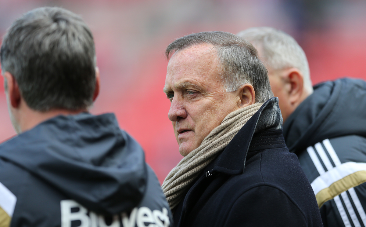 Sunderland manager Dick Advocaat prior to the Barclays Premier League match at the Stadium Of Light, Sunderland Picture by Simon Moore/Focus Images Ltd 07807 671782 16/05/2015