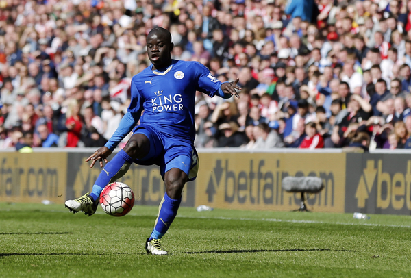 Ngolo Kante of Leicester City during the Barclays Premier League match at the Stadium Of Light, Sunderland Picture by Simon Moore/Focus Images Ltd 07807 671782 10/04/2016