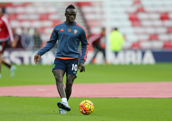 Sadio Mane of Southampton prior to the Barclays Premier League match at the Stadium Of Light, Sunderland Picture by Simon Moore/Focus Images Ltd 07807 671782 07/11/2015