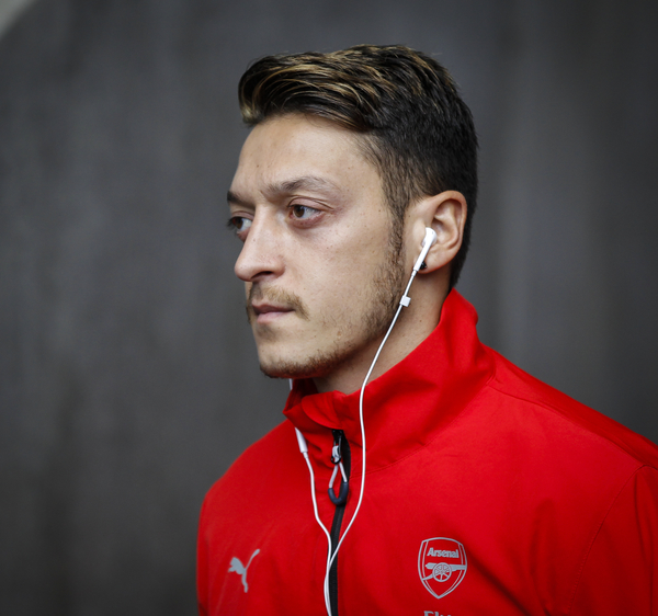 Messy Ozil of Arsenal arriving for the Barclays Premier League match at the Liberty Stadium, Swansea Picture by Mike Griffiths/Focus Images Ltd +44 7766 223933 31/10/2015