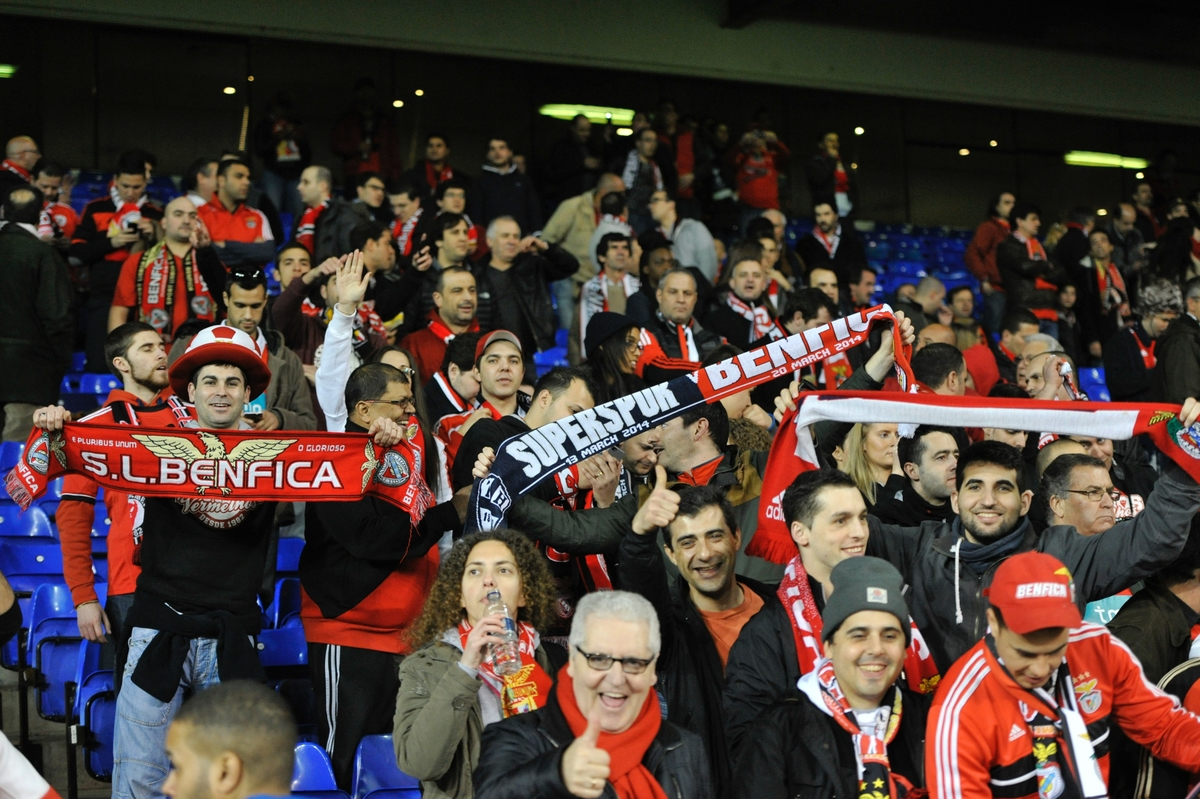 Benfica fans before the UEFA Europa League match at White Hart Lane, London Picture by Alan Stanford/Focus Images Ltd +44 7915 056117 13/03/2014