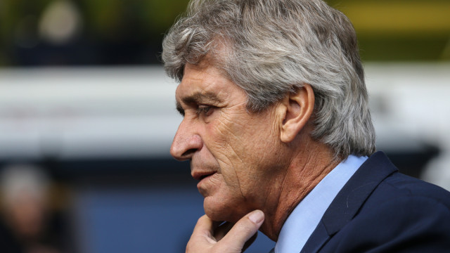 Manuel Pellegrini (Manager) of Manchester City during the Barclays Premier League match at White Hart Lane, London Picture by David Horn/Focus Images Ltd +44 7545 970036 26/09/2015