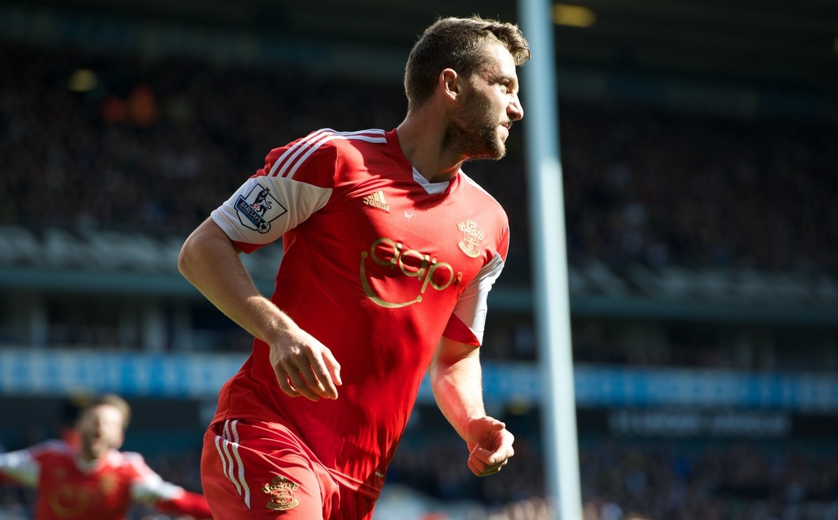 Jay Rodriguez of Southampton celebrates his goal to make it 0-1 during the Barclays Premier League match at White Hart Lane, London Picture by Alan Stanford/Focus Images Ltd +44 7915 056117 23/03/2014