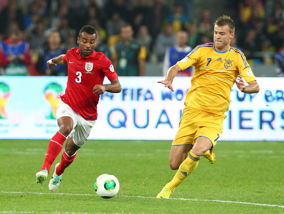 Yarmolenko Ashley Cole Ucrania Inglaterra