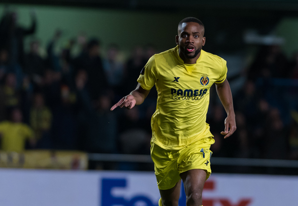 Cedric Bakambu of Villarreal Cf celebrates his goal during the UEFA Europa League match at Estadio El Madrigal, Villarreal Picture by Maria Jose Segovia/Focus Images Ltd +34 660052291 10/03/2016