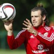 Gareth Bale during the Wales football team training ahead of their Euro Championship Qualifiers at the Vale Resort, Hensol Picture by Mike Griffiths/Focus Images Ltd +44 7766 223933 31/08/2015