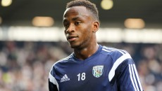 Saido Berahino of West Bromwich Albion warms up before the Barclays Premier League match at The Hawthorns, West Bromwich Picture by Tom Smith/Focus Images Ltd 07545141164 28/09/2014