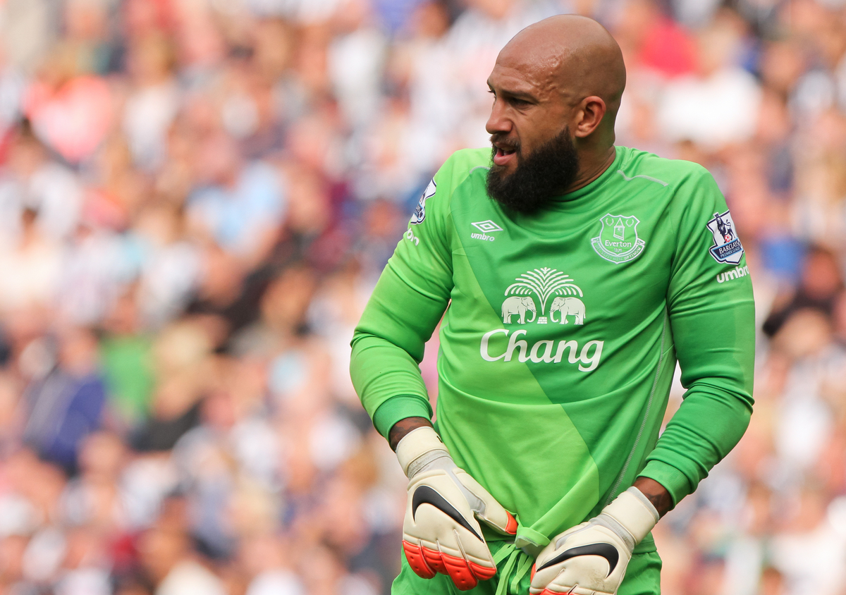 Tim Howard of Everton during the Barclays Premier League match at The Hawthorns, West Bromwich Picture by Tom Smith/Focus Images Ltd 07545141164 13/09/2014