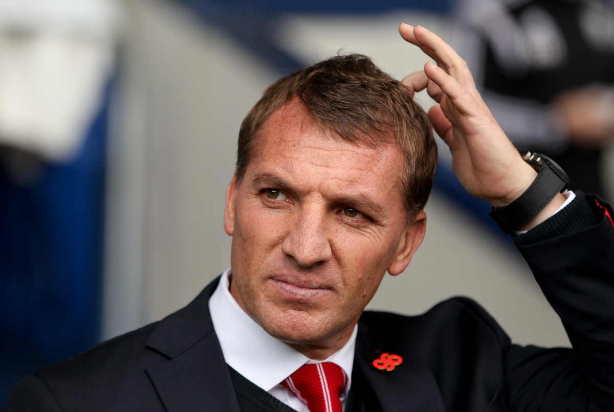 Liverpool manager Brendan Rodgers scratches his head before the Barclays Premier League match at The Hawthorns, West Bromwich Picture by Tom Smith/Focus Images Ltd 07545141164 25/04/2015