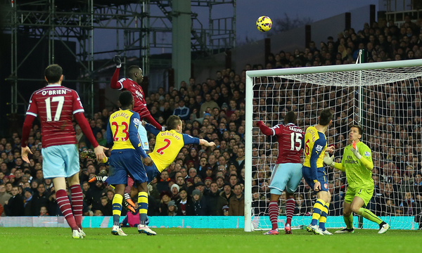 West Ham Arsenal gol Kouyate - Focus