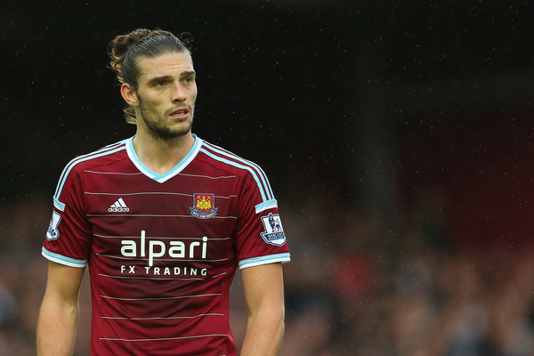 Andy Carroll of West Ham United during the Barclays Premier League match at the Boleyn Ground, London Picture by Richard Calver/Focus Images Ltd +447792 981244 07/12/2014