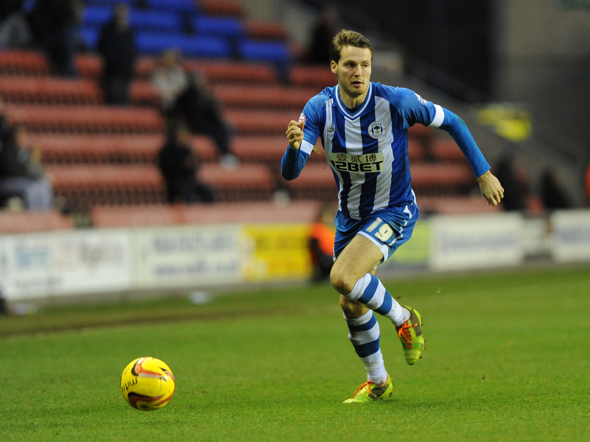 Nick Powell con la camiseta del Wigan Athletic (Foto: Focus Images Ltd).