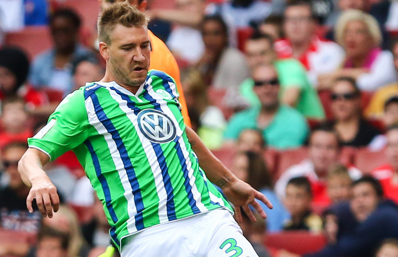 Nicklas Bendtner of VfL Wolfsburg during the Emirates Cup match at the Emirates Stadium, London Picture by David Horn/Focus Images Ltd +44 7545 970036 25/07/2015