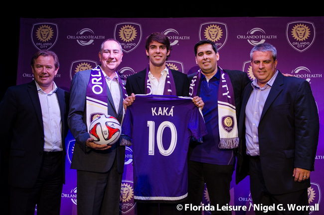 Ricardo Kaka signs for Orlando City Soccer, The Abbey, Orlando, Florida - 1st July 2014 (Photographer: Nigel Worrall)
