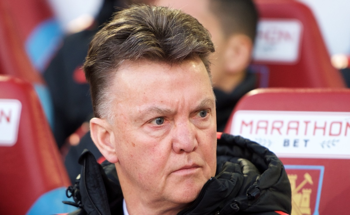 Manager Louis van Gaal of Manchester United during the Barclays Premier League match at the Boleyn Ground, London Picture by Alan Stanford/Focus Images Ltd +44 7915 056117 08/02/2015